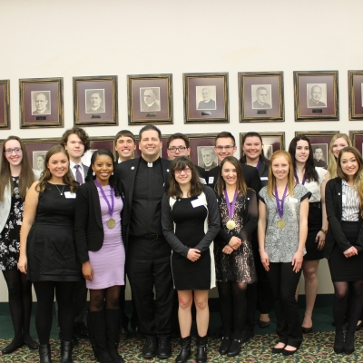 Eleven Students Inducted into Presidents Society at NU