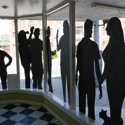 Niagara University Art Project Brings Shadow Selfies to Vacant Niagara Falls Storefronts
