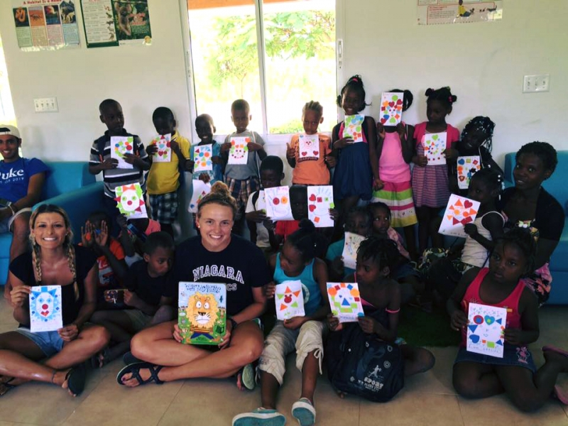 Niagara University Students Offering Helping Hands to Impoverished Children in Haiti