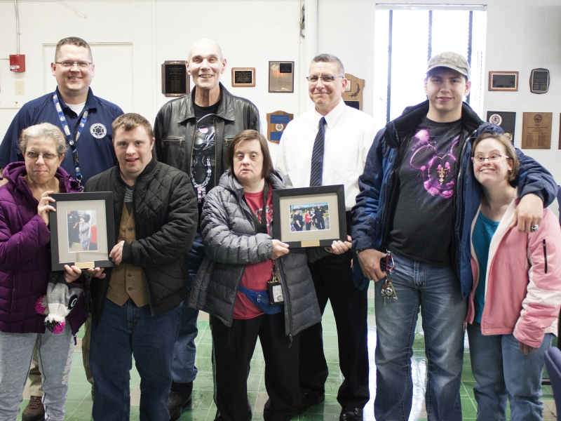 Opportunities Unlimited of Niagara Presents Photos to NU Police Academy Directors